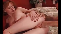 Redhead Jessi With Hair On Cunt And Cock Up Ass