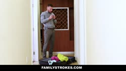 FamilyStrokes - Hot Teen Flashes Pussy For Pervy Uncle